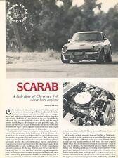 1978 Scarab Nissan Datsun Original Car Review Print Article J537
