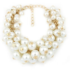 K9 Women Multi-Layer Pearl Pendant Bead Charms Gold Bangle Cute Chain Bracelet