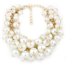K9 Women Multi-Layer Pearl Pendant Bead Charms Gold Bangle Cute Chain Bracelet