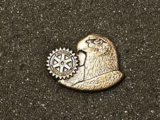 Rotary International Pin American Eagle Head Bronze Color