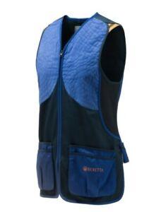 Beretta Dt11 Microsuade Slide Vest Skeet Blue/Navy Waistcoat Hunting Shooting