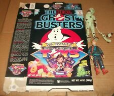1989 opened boxes of The Real Ghostbusters Cereal w/ 2 figures