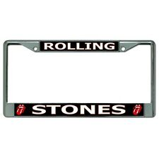 rolling stones tongue logo rock band music chrome license plate frame usa made