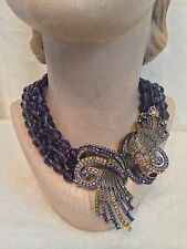 "Heidi Daus PURPLE ""Irresistibly Yours"" Necklace"