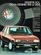Publicité Advertising 097  1983  Alfa Romeo la Giulietta 2.0l 130 ch