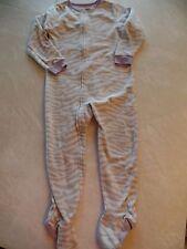 girls CARTER'S FOOTED SLEEPER pajamas WINTER FLEECE PJ'S zebra print SIZE 5T