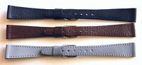 15mm FLEURUS HAND MADE GENUINE CALF WATCH BAND / STRAP - CHOOSE FROM 3 COLOURS