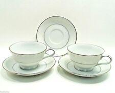 Noritake China BUCKINGHAM #6438 2 Footed Coffee/Tea cups & 3 Saucers Nice Japan