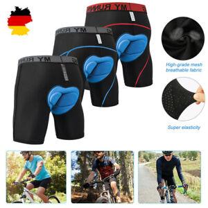 Herren Fahrradhose MTB Shorts Radunterhose Gel Sitzpolster Radlerhose Unterhose