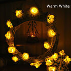 20LED Rose Flower Fairy Wedding Garden Party Christmas Decor Xmas String Lights