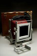 Vintage Calumet 8x10 View Camera Pkg w/9 Sheet Film Holders, Case, Lens Boards +