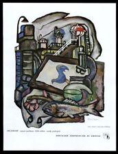 1949 Delaware blue hen Edward L. Loper art CCA vintage print ad