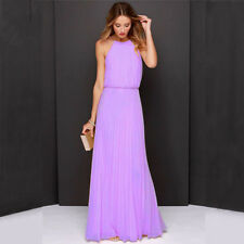 Women Ladies Wedding Dresses Long Bridesmaid Evening Party Prom Ball Gown Dress