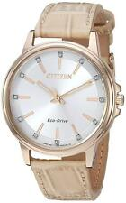 Citizen Eco-Drive Chandler Women's FE7033-08A Diamond Accents Taupe 37mm Watch