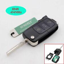 3B Folding Remote Key Fob 434MHz ID48 for VW Golf (2002 - 2005) 1J0 959 753 DA