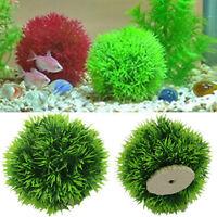 Artificial Plastic Plants Aquarium Grass Ball Fish Tank Ornament Decors New
