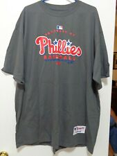 Phillies T Shirt XL New Gray By Majestic chest measures 53 inches