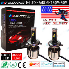 PILOTING H4 9003 LED Headlight Conversion Kit 80W CREE LED Light 6000K US POST