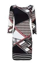 Vestido Estilo Túnica Estampado Geométrico Multi S (UK8/10)
