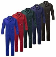 HEAVY DUTY 240GSM ZIP FRONT Cotton COVERALLS Boiler Suit Overall Work Wear
