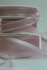 Satin Edge Sheer Organza Ribbon 25 METRE Reel 10mm 15mm 25mm 40mm 70mm Widths