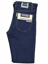 Ladies Bootleg Stretch Jeans VIVID Black Darkwash Womens Designer Pants UK 8 10
