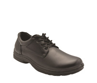 Mens Grosby Barry(ga) Black Lace Up Work Formal Comfortable Lightweight Shoes