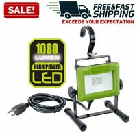 LED Work Light Stand Compact Repair Lamp Portable Floodlight Adjustable Hook