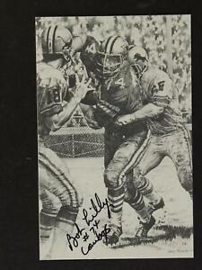 1981 HOFer DALLAS COWBOYS BOB LILLY AUTOGRAPH FOOTBALL PROMO POSTCARD~