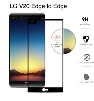 ZIZO TEMPERED GLASS Black Trim Edge-to-Edge .33mm 9H Screen Protector For LG V20