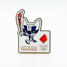 Tokyo 2020 Olympic Games official mascot pin badge Torch Relay Olympics Japan