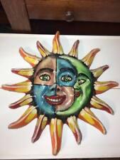 Vintage paper mache sun and moon