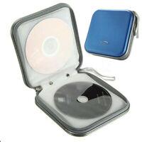 40 Disc Cd Dvd Wallet Album Plastic Storage Organizer Holder Case Bag Blue