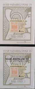 Estonia 1993 First Estonian Postage Stamp Pair M,N,H,
