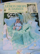LEMON DROPS & DAISIES BABY AFGHANS beautiful CROCHET patterns~worsted~sport yarn
