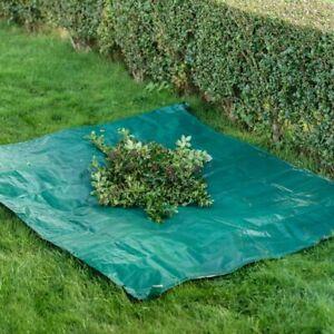 Garden Waste Gather Sheet Tarpaulin 152cm x 183cm With Handles