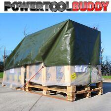 5mt x 8mt Heavy Duty Tarpaulin Green Waterproof Strong Cover Ground Sheet 180GSM