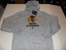 CHICAGO BLACKHAWKS NHL HOODY MENS SZ LARGE -GRAY- NWT