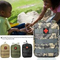 Molle EMT Emergency Survival Tactical First Aid Kit Bag Outdoor Pouch M9P6