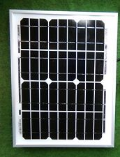 Electric Fencer 10W SOLAR PANEL KIT 12V 10 WATT +1.5 m cable croc clips diode