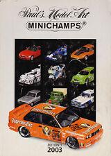 Paul's Model Art Minichamps Model Catalogue all Scales Diecast 2003 - Edition 1