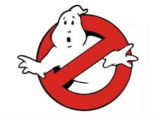 X2 GHOSTBUSTERS LOGO DECAL, Bumper Sticker Truck Windshield, Door CAR Prop USDM