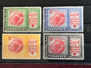 Guinea stamps 1963 SG#404-7 Centenary Of Red Cross MNH