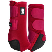 Classic Equine Legacy2 Horse Medicine SMB Sport Boots Crimson Red Front / Hind