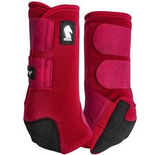 C-L-RD Large Hilason Horse Splint Boots Neoprene Red