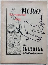 YUL BRYNNER Film Theater Actor Signed Autograph PAL JOEY PLAYBILL