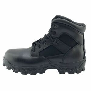 ROCKY Mens 6 In AlphaForce Work Safety Boots Black Xtremium Toe Lace Up 11 M New