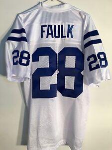 Reebok Premier NFL Jersey Indianapolis Colts Marshall Faulk White sz M  SEWN