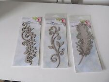 chipboard embellishments blue fern studios x 3 scrapbooking crafts