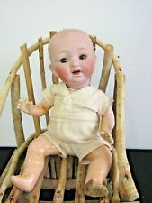 """Antique Character Baby - Bisque Head with Sleep Eyes 10"""""""